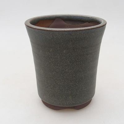 Keramische Bonsai-Schale 9 x 9 x 10,5 cm, graue Farbe - 1