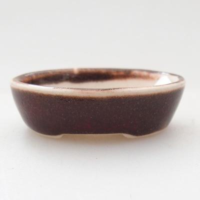 Mini Bonsai Schüssel 4,5 x 3,5 x 2 cm, Farbe rot - 1
