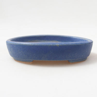 Keramische Bonsai-Schale 11 x 9 x 2,5 cm, Farbe blau - 1