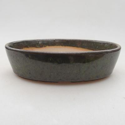 Keramische Bonsai-Schale 16 x 11,5 x 4 cm, Farbe grün - 1
