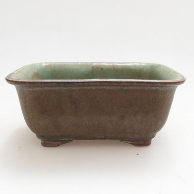 Keramische Bonsai-Schale 13 x 10 x 5,5 cm, Farbe grün - 1