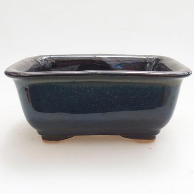 Keramische Bonsai-Schale 13 x 10 x 5,5 cm, braun-blaue Farbe - 1