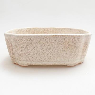 Bonsai-Keramikschale 12 x 9,5 x 4 cm, beige Farbe - 1