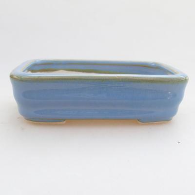 Keramische Bonsai-Schale 11 x 8 x 3 cm, Farbe blau - 1