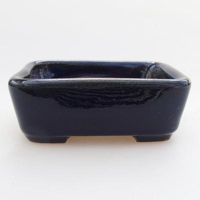 Keramische Bonsai-Schale 9 x 7,5 x 3 cm, Farbe blau - 1