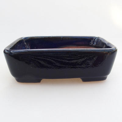 Keramik Bonsai Schüssel 12 x 9 x 3,5 cm, Farbe blau - 1