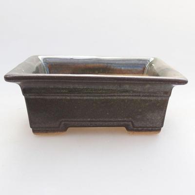 Keramische Bonsai-Schale 11 x 8,5 x 4 cm, Farbe grün - 1
