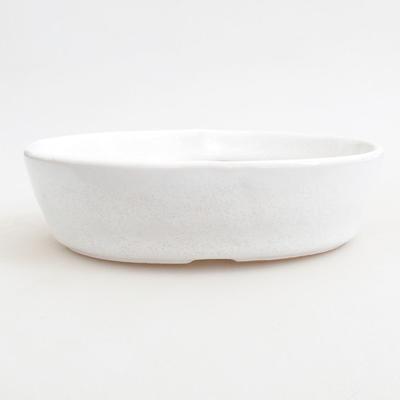 Keramische Bonsai-Schale 14,5 x 9 x 3,5 cm, weiße Farbe - 1