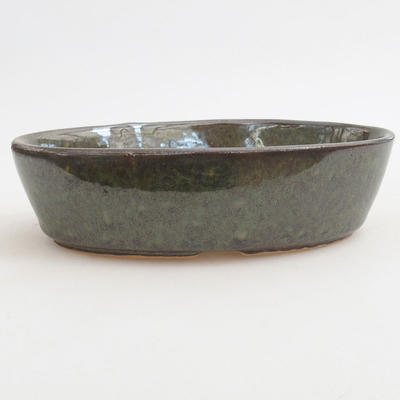 Bonsai-Keramikschale 14,5 x 9 x 3,5 cm, Farbe grün - 1