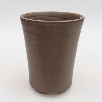 Keramik Bonsai Schüssel 10 x 10 x 13 cm, Farbe braun - 1