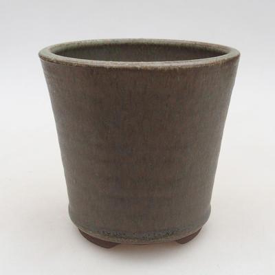 Keramische Bonsai-Schale 10,5 x 10,5 x 10 cm, Farbe grün - 1