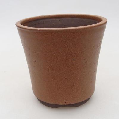 Keramische Bonsai-Schale 10 x 10 x 9,5 cm, Farbe braun - 1