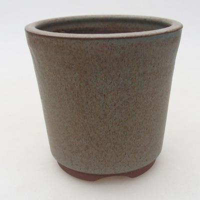 Keramik Bonsai Schüssel 10 x 10 x 10 cm, Farbe blau - 1