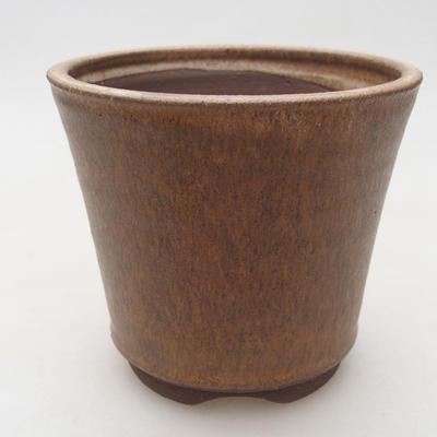 Keramische Bonsai-Schale 10,5 x 10,5 x 9,5 cm, beige Farbe - 1