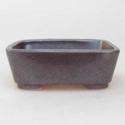 Keramische Bonsai-Schale 9,5 x 8 x 3,5 cm, braune Farbe - 1