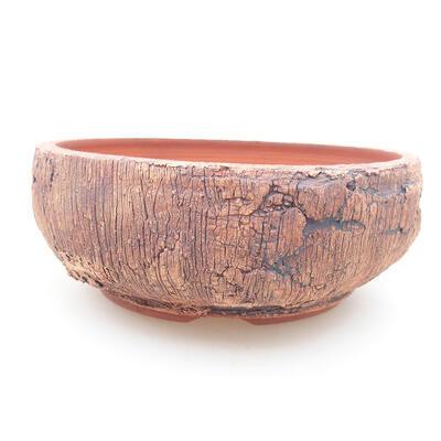 Keramische Bonsai-Schale 16 x 16 x 6 cm, Farbe rissig - 1
