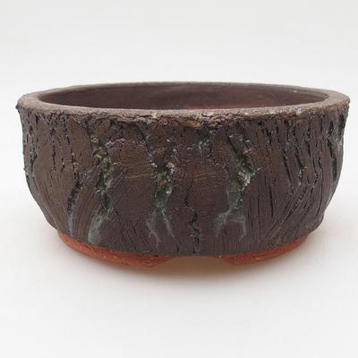 Keramik Bonsai Schüssel 15 x 15 x 6 cm, Farbe rissig - 1