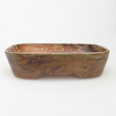 Keramische Bonsai-Schale 23 x 18 x 5 cm, Farbe braun-grün - 1