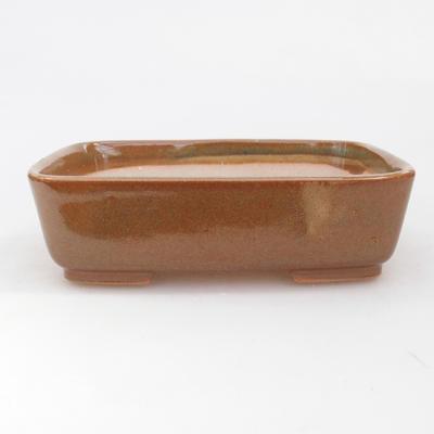 Keramik Bonsai Schüssel 15 x 12 x 4,5 cm, braune Farbe - 1