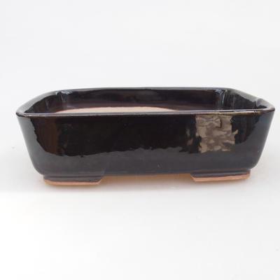 Keramische Bonsai-Schale 15 x 12 x 4,5 cm, Farbe braun-grün - 1