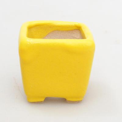 Mini Bonsai Schüssel 3 x 3 x 3 cm, gelbe Farbe - 1