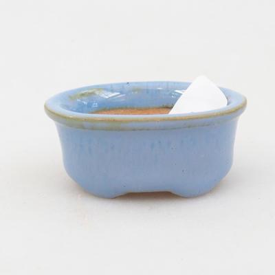 Mini-Bonsaischale 4,5 x 3,5 x 2 cm, Farbe blau - 1