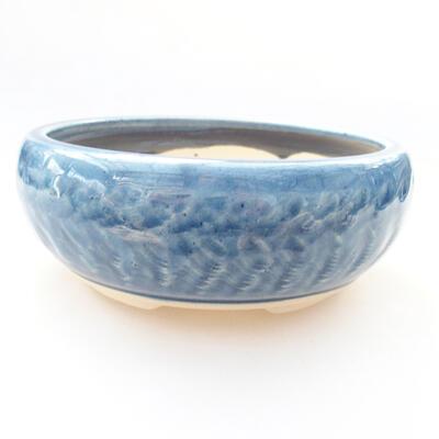 Keramische Bonsai-Schale 14 x 14 x 5,5 cm, Farbe blau - 1
