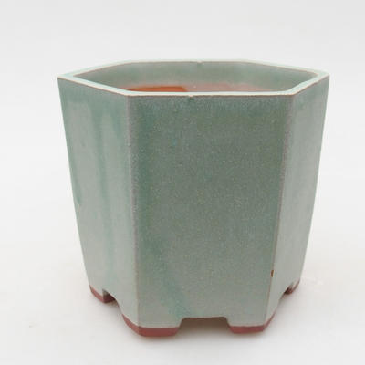 Keramische Bonsai-Schale 9,5 x 9 x 8,5 cm, Farbe grün - 1