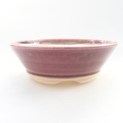 Keramische Bonsai-Schale 11,5 x 11,5 x 4 cm, Farbe lila - 1
