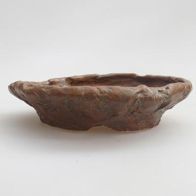 Keramik Bonsai Schüssel 17 x 17 x 4 cm, braune Farbe - 1