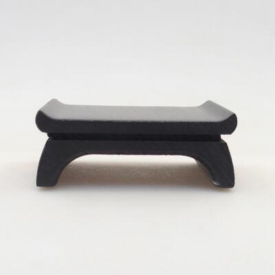 Holztisch unter dem Bonsai braun 8 x 6 x 2,5 cm - 1