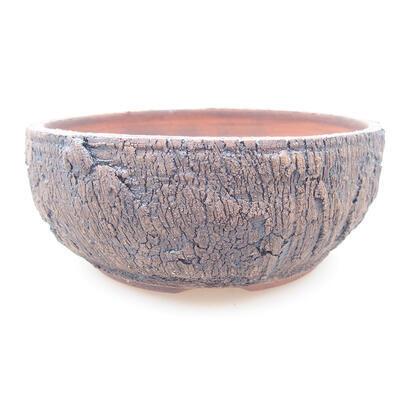 Keramische Bonsai-Schale 15 x 15 x 6 cm, Farbe rissig - 1