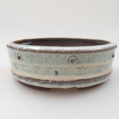Keramik Bonsai Schüssel - 16 x 16 x 5 cm, Farbe blau - 1