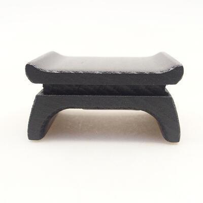 Holztisch unter dem Bonsai braun 5 x 4 x 2 cm - 1