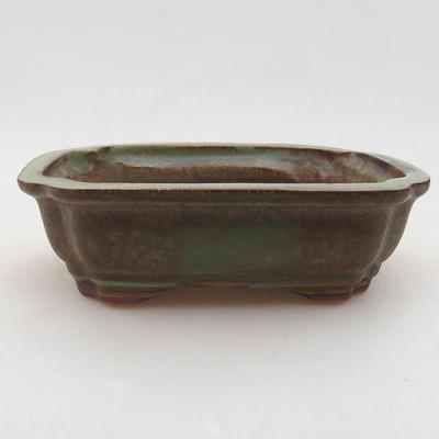 Keramische Bonsai-Schale 15 x 11,5 x 4,5 cm, Farbe grün - 1