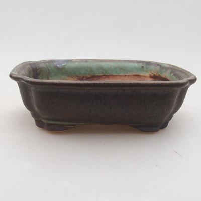 Keramik Bonsai Schüssel 15 x 12 x 4 cm, Farbe grün - 1