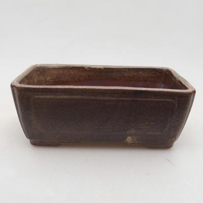 Keramische Bonsai-Schale 13 x 9 x 4,5 cm, braune Farbe - 1