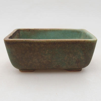 Keramik Bonsai Schüssel 10 x 7 x 4 cm, Farbe grün - 1