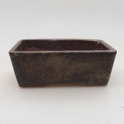 Keramische Bonsai-Schale 9 x 7 x 4 cm, graue Farbe - 1