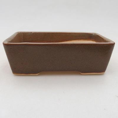 Keramische Bonsai-Schale 12 x 9 x 3,5 cm, Farbe braun - 1