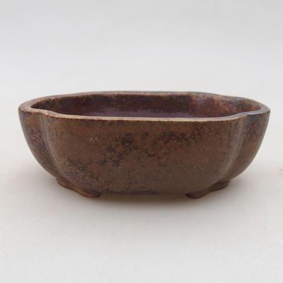 Keramische Bonsai-Schale 10 x 8 x 3 cm, Farbe braun - 1