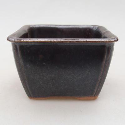 Keramische Bonsai-Schale 8 x 8 x 5 cm, Metallfarbe - 1