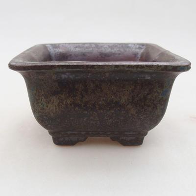 Keramische Bonsai-Schale 9 x 9 x 5,5 cm, graue Farbe - 1