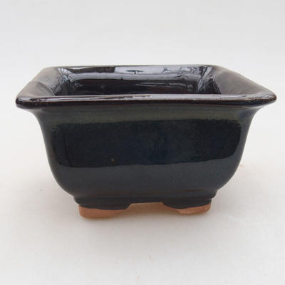 Keramische Bonsai-Schale 9 x 9 x 5,5 cm, Farbe blau - 1