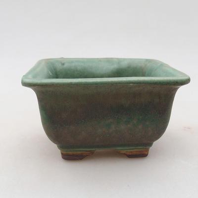Keramische Bonsai-Schale 9 x 9 x 5,5 cm, Farbe grün - 1