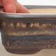 Bonsaischale aus Keramik 16 x 10 x 4,5 cm, Farbe braun-beige - 1/3