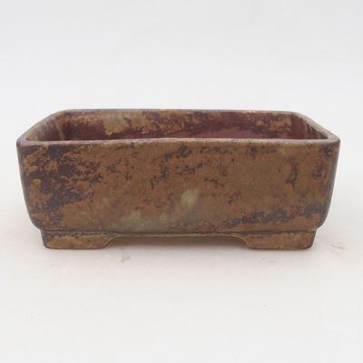 Keramik Bonsai Schüssel 15 x 11 x 5,5 cm, Farbe braun-grün - 2. Qualität - 1