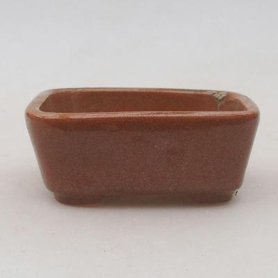 Keramik Bonsai Schüssel 8 x 7 x 3 cm, Farbe braun - 2. Qualität - 1