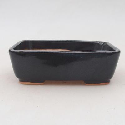 Keramik Bonsai Schüssel 12 x 10 x 4 cm, Farbe grau - 2. Qualität - 1