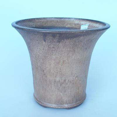 Keramik Bonsai Schüssel 25 x 25 x 21 cm Farbe braun - 1